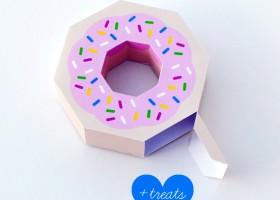 Xếp hộp quà hình chiếc bánh rán ngộ nghĩnh