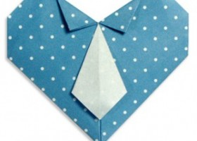 Hướng dẫn cách gấp trái tim đeo cà vạt