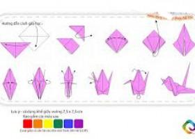 Cách gấp hạc giấy đơn giản