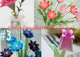 4 Kiểu hoa giấy với cách gấp đơn giản