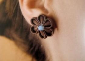 Tự làm chiếc bông tai kanzashi nhỏ xinh rất yêu