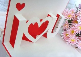 Làm chiếc thiệp nổi tình yêu đơn giản mà cực kute