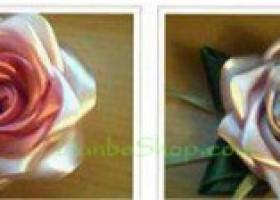 Hướng dẫn làm hoa hồng bằng vải lụa
