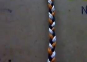 Vòng đeo tay kiểu đơn giản – nút ba dây đôi