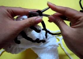Cách đan khăn len caro
