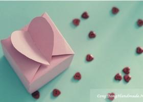 Cách làm hộp quà hình trái tim