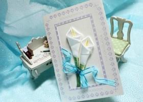 Làm thiệp hoa bằng ruy băng
