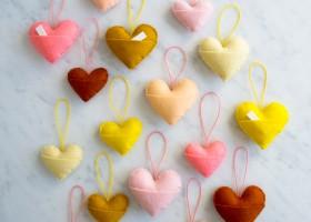 Trái tim nhồi bông nhỏ xinh, đa năng