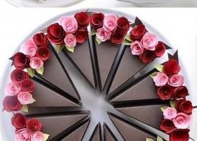 Hộp quà hình miếng bánh socola ngọt ngào