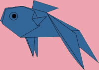 cach gap ca vang origami 1