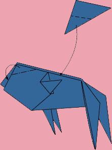 cach gap ca vang origami 9