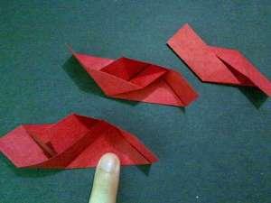 cach gap hoa hong origami 5