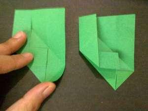 cach gap hoa hong origami 8