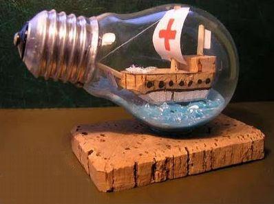 cách làm thuyền trong chai