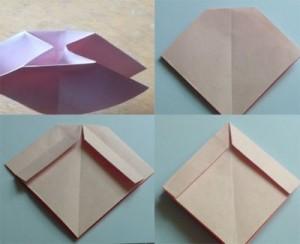 Cách gấp nơ từ giấy bước 3