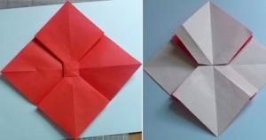 Cách gấp nơ từ giấy bước 4
