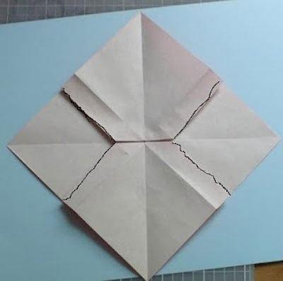 Học gấp nơ bằng giấy bước 5 - học gấp giấy Origami