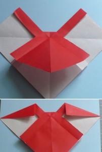 Cách gấp nơ từ giấy bước 6