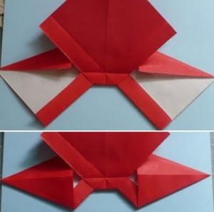 Cách gấp nơ từ giấy bước 7