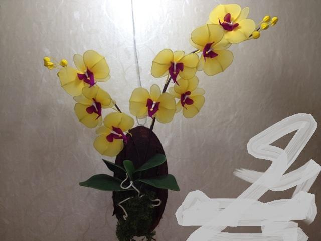 cách làm hoa lan hồ điệp bằng vải voan 1