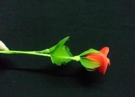 Cách làm hoa hồng bằng vải voan đẹp