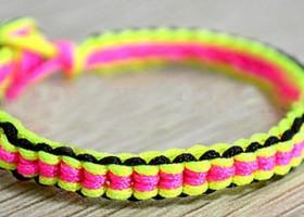 Tết vòng đeo tay với 3 màu cực cute