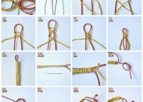 Đan vòng dây đeo tay 2 sợi đơn giản
