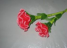 Cách làm hoa Cẩm Chướng bằng vải voan