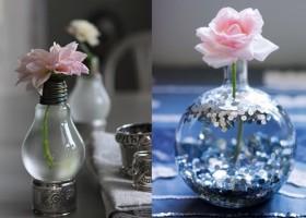 Ngộ nghĩnh với lọ hoa bằng bóng đèn