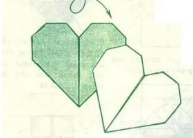 Cách gấp trái tim đôi