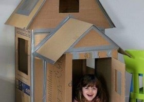 Cách làm ngôi nhà bằng hộp giấy carton qua 5 bước đơn giản cho bé