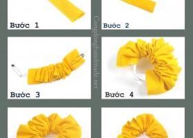 Cách làm scrunchies đơn giản cá tính tại nhà