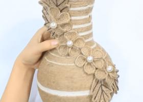 Cách làm bình hoa bằng chai nhựa đơn giản