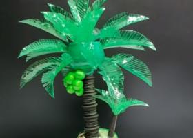 Cách làm cây dừa handmade từ chai nhựa độc đáo bảo vệ môi trường