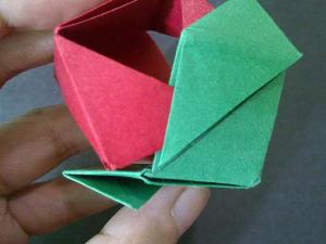 cach gap hoa hong origami 12