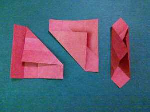 cach gap hoa hong origami 3