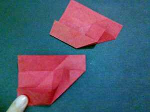 cach gap hoa hong origami 4