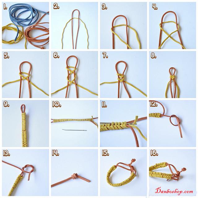 Đan vòng dây 2 sợi đơn giản