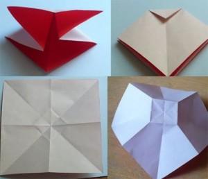 Cách gấp nơ từ giấy bước 2