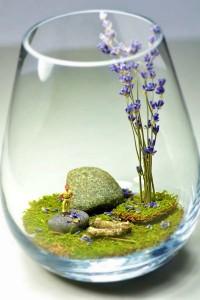 Mô hình trong ly thủy tinh