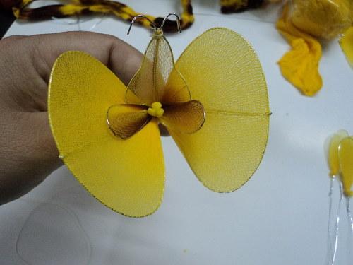 cách làm hoa lan hồ điệp bằng vải voan bước 5d