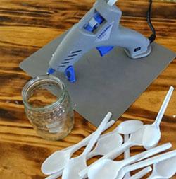 cách làm hoa sen bằng thìa nhựa 1