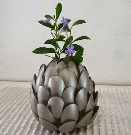 cách làm hoa sen bằng thìa nhựa bước 7