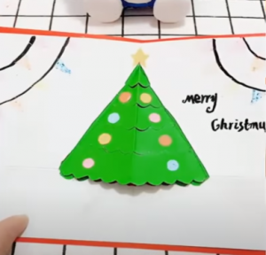 Làm thiệp giáng sinh handmade đơn giản