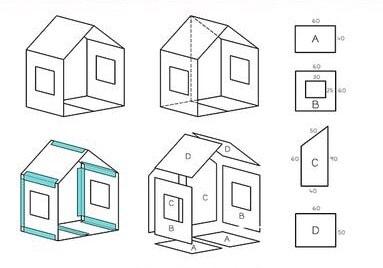 ngôi nhà bằng bìa carton