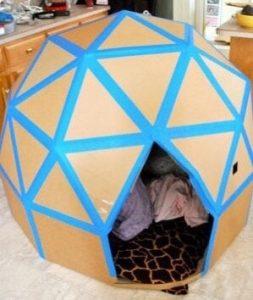 hướng dẫn làm nhà bằng thùng giấy